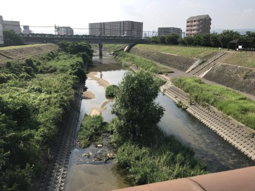 枚方市駅近く天の川