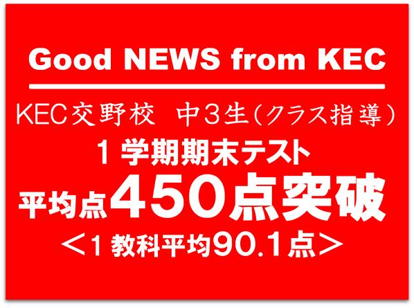 KEC交野校450点突破_塾予備校