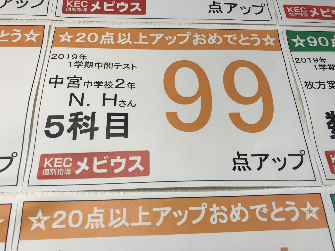KEC個別指導メビウス_塾予備校_99点アップ